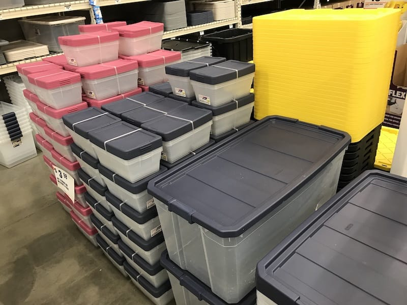 What is the best storage plastic storage container for your attic?