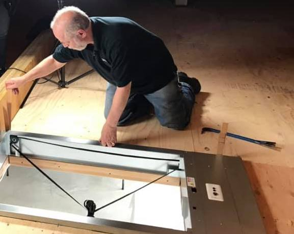 installing a SpaceLift attic lift in the attic, diy, home improvements